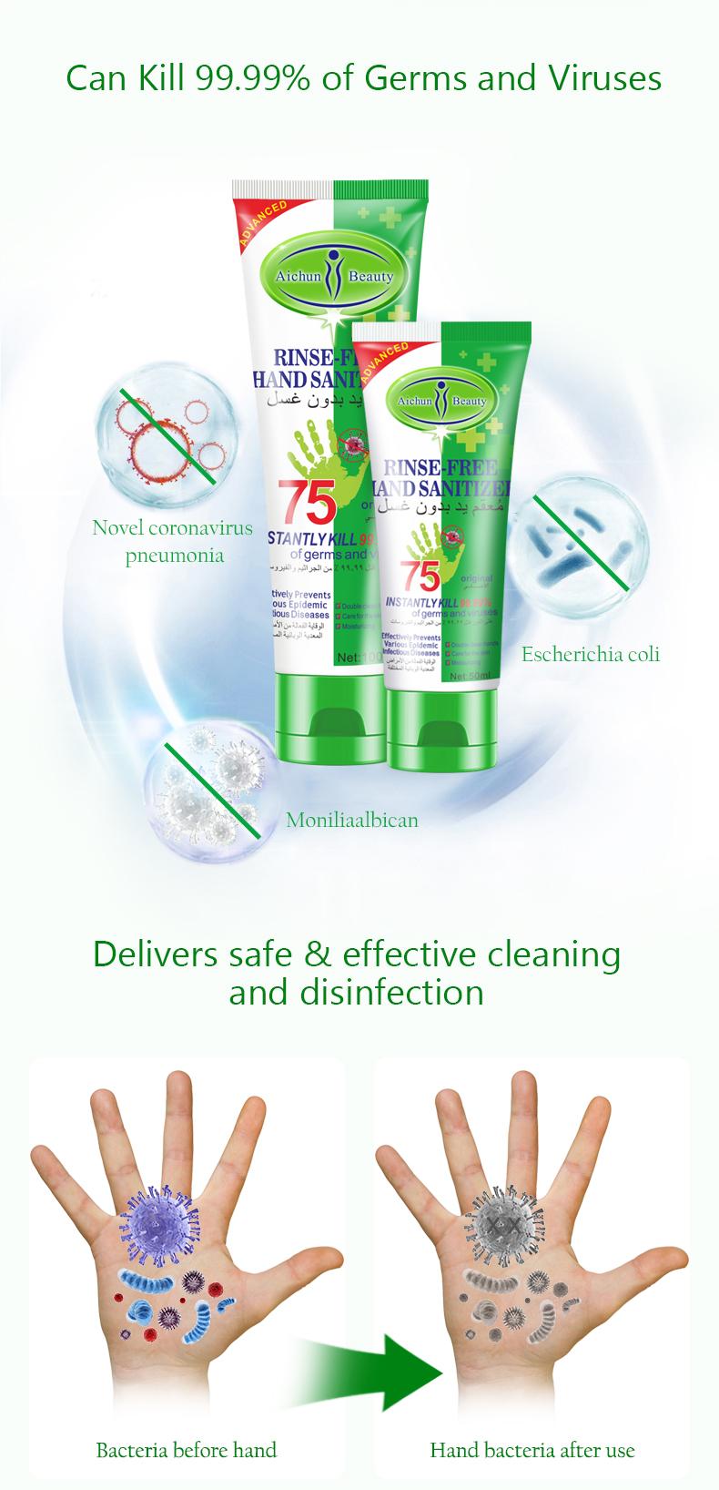 desinfectie handgel biedt bescherming tegen bacterien en virussen_effect