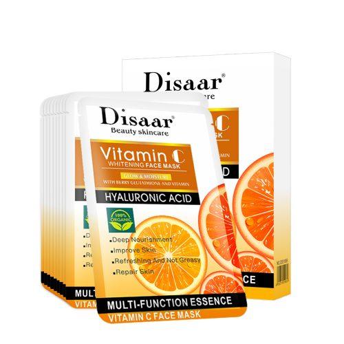 Disaar Hyaluron gezichtsmasker met Vitamine C - 10 stuks