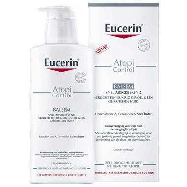 Eucerin AtopiControl Balsem vermindert het jeukerig gevoel en versterkt de huidbarrière