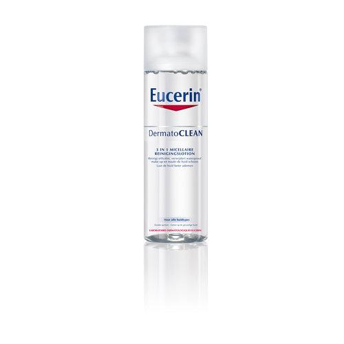 Eucerin DermatoCLEAN 3 in 1 Micellaire Reinigingslotion verwijdert make-up en laat de huid gemakkelijker ademen_200ml