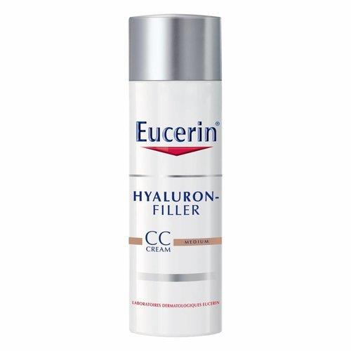 Eucerin Hyaluron-Filler Dagcrème CC CREAM Medium vult rimpels op en corrigeert de teint en pigmentvlekken_50ml