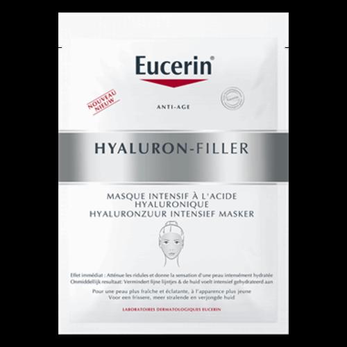 Eucerin Hyaluron-Filler Hyaluronzuur Intensief Masker vermindert fijne lijntjes en hydrateert de huid