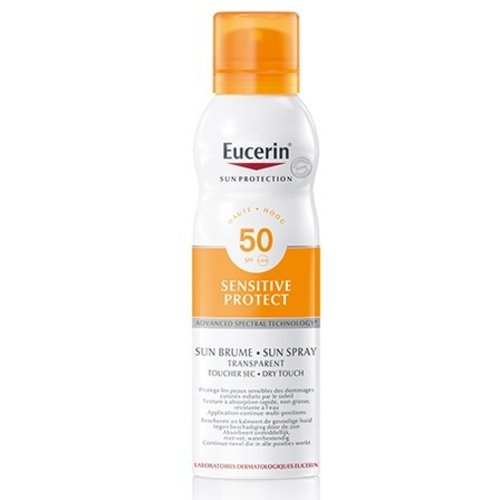 Eucerin Sun Sensitive Protect Spray Transparant SPF 50 transparante zonbeschermingspray voor de gevoelige huid_200ml