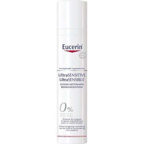 Eucerin UltraSENSITIVE reinigingslotion kalmeert en verzacht de hypergevoelige branderige huid_100ml