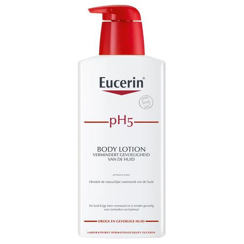 Eucerin pH5 Body Lotion voor de gevoelige en schrale huid die 24 uur lang hydratatie biedt