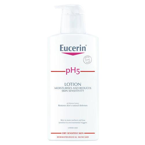 Eucerin pH5 Parfumvrije Body Lotion voor de gevoelige en schrale huid die 24 uur lang hydratatie biedt_400ml