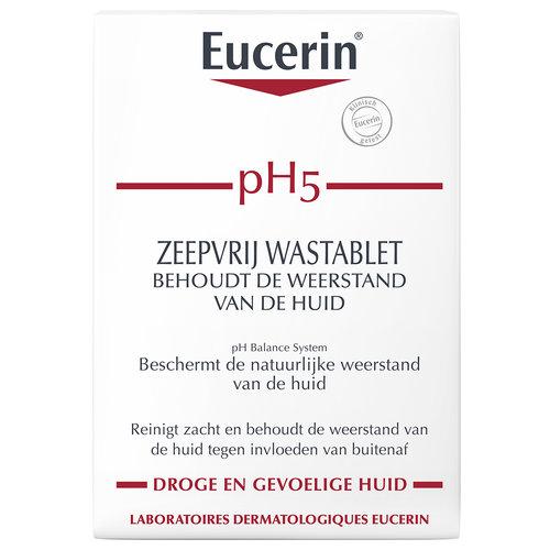 Eucerin pH5 Zeepvrij Wastablet behoudt de weerstand van de huid
