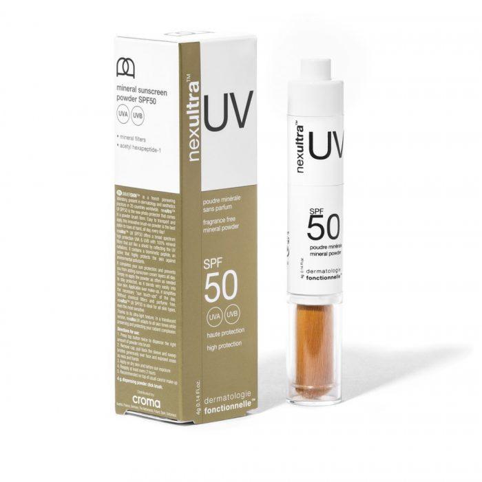 Universkin Nexultra UV SPF50 met uvA en uvB bescherming door een zonnefilter van uitsluitend minerale poeders_box