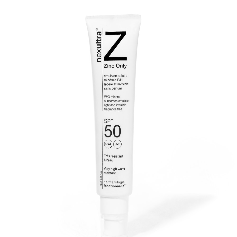 Universkin Nexultra Z zonnebrandcrème met zinkoxide voor de gevoelige en de acnegevoelige huid