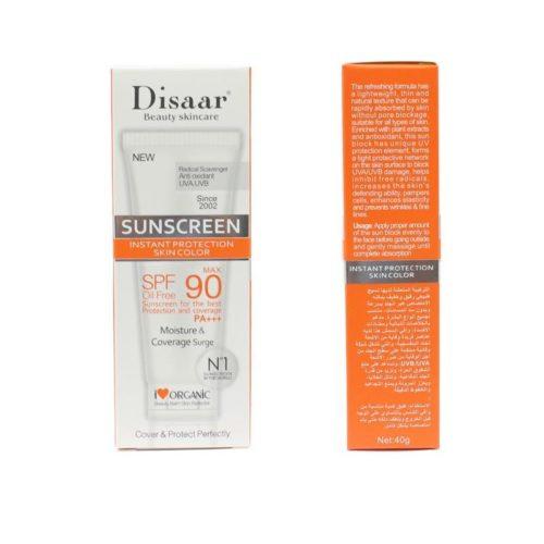 Disaar SPF90 Zonnebrandcrème met factor 90 voor de gevoelige huid