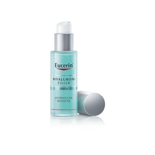 Eucerin Hyaluron-Filler Serum een hydraterende en verfrissende gel die de huid onmiddellijk een hydraterende boost geeft