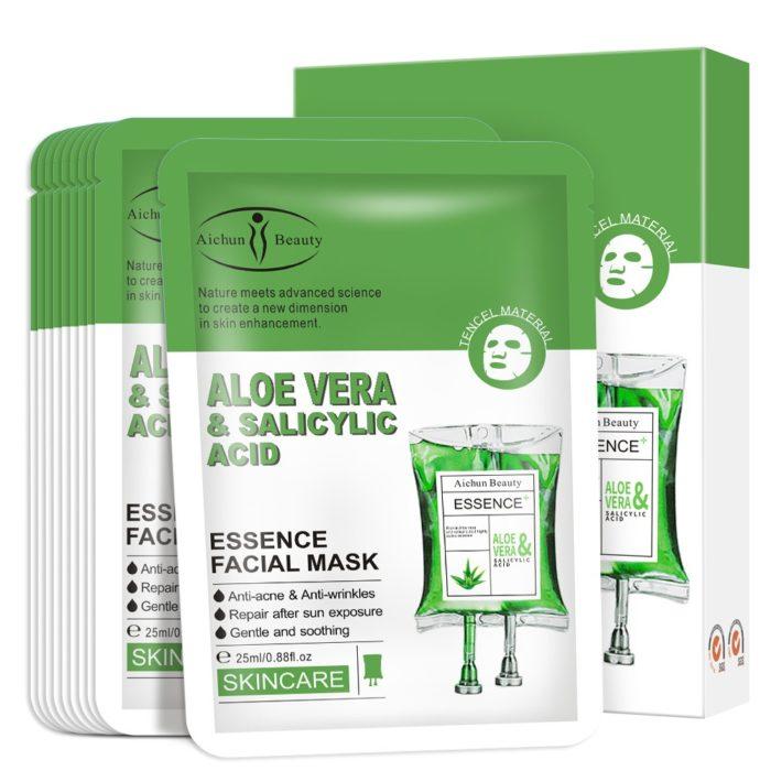 Gezichtsmasker met Aloë Vera en Salicylzuur