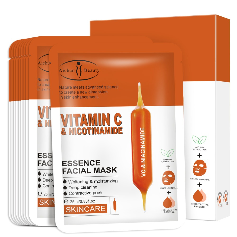 Gezichtsmasker met Vitamine C en Nicotinamide B3