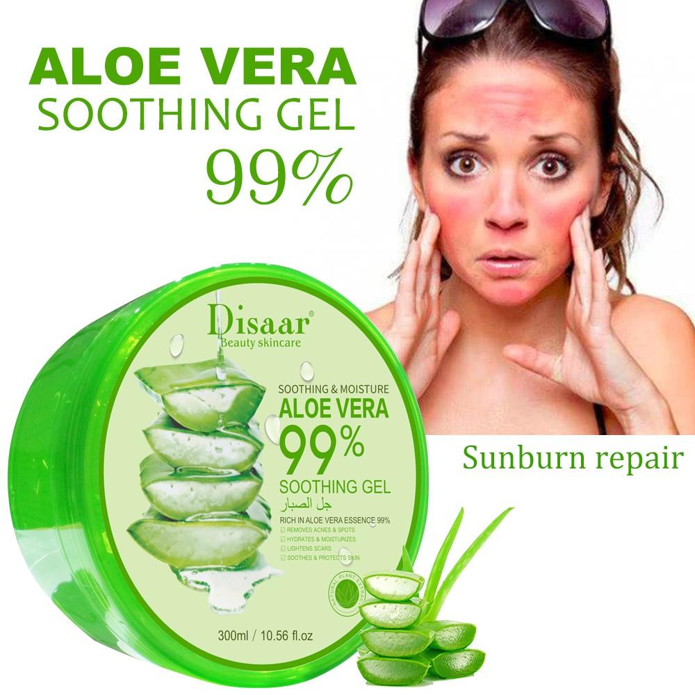 Aloë Vera 99% hydraterende, kalmerende en verzorgende gel - herstel verbrande huid door zon