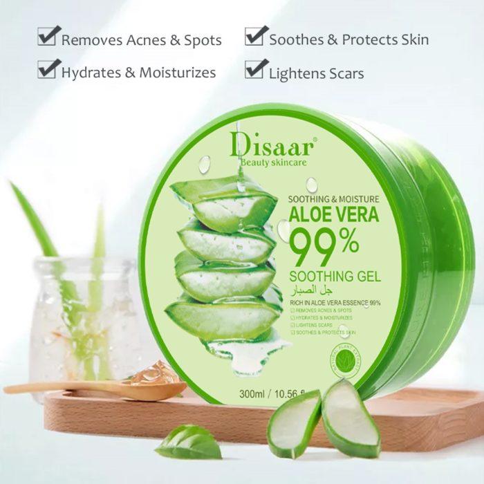 Aloë Vera 99% hydraterende, kalmerende en verzorgende gel - huidaandoeningen