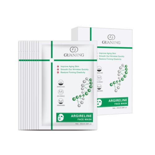 Gezichtsmasker met Argireline voor het verminderen van rimpels - set 10 stuks