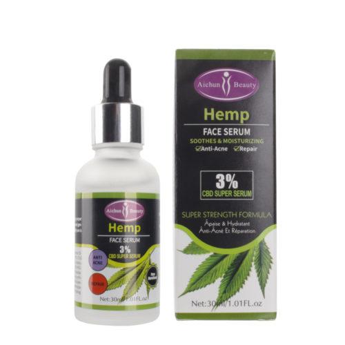 Serum met 3% CBD extract en hyaluronzuur voor acné